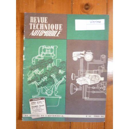 ARIANE 4 58-63 Revue Technique Simca Talbot Triumph