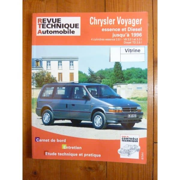rta revues techniques chrysler voyager essence et diesel jusqu 39 en 1996. Black Bedroom Furniture Sets. Home Design Ideas