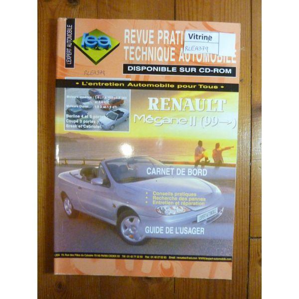 lea revue technique renault megane ii essence 1 4 1 4 16v 1 6 16v 2 0 ide diesel 1 9d 1 9. Black Bedroom Furniture Sets. Home Design Ideas