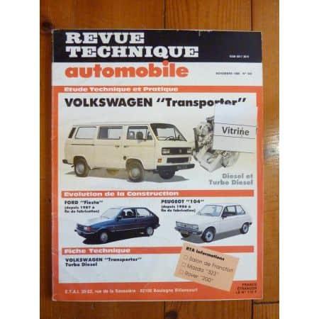 Transporter D TD Revue Technique Volkswagen