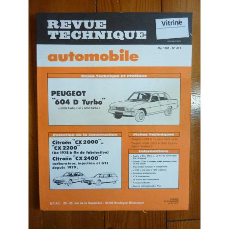 604 Die Turbo Revue Technique Peugeot