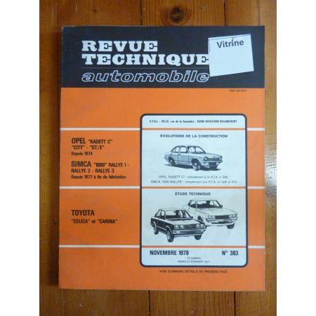 Celica Carina Revue Technique Toyota
