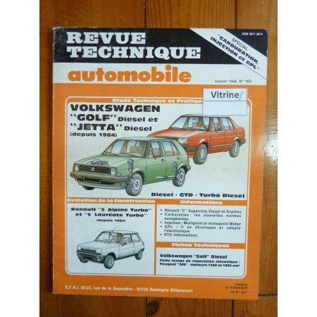 Golf Jetta Die 84- Revue Technique Volkswagen