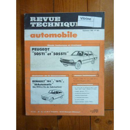 505 TI STI Revue Technique Peugeot