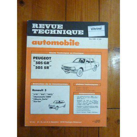 505 GR SR Revue Technique Peugeot