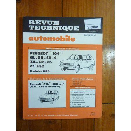 104 mod 80 Revue Technique Peugeot