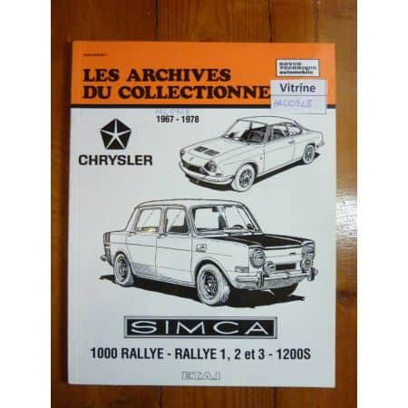 1000 Rallye 1 2 3 Revue Technique Simca
