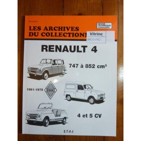 R4 61-75 Revue Technique Les Archives Du Collectionneur Renault