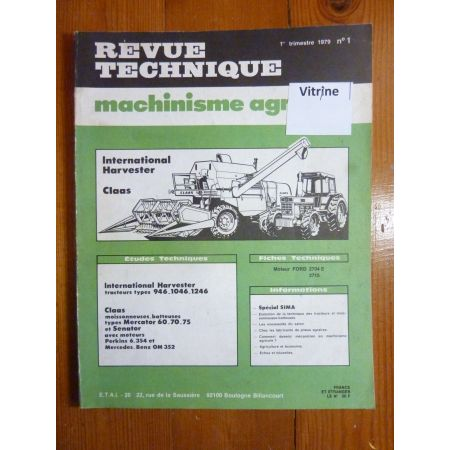 MERCATOR SENATOR 946 1046 1246 Revue Technique Agricole IH
