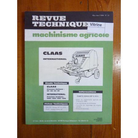 34 44 62 85 Revue Technique Agricole IH