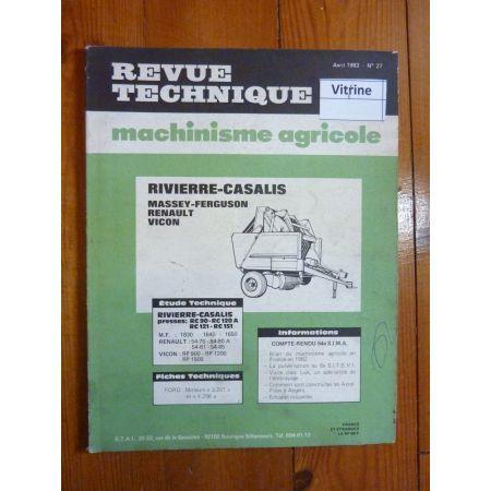 Série RC- 54.xx-Série RP Revue Technique Agricole Massey Ferguson