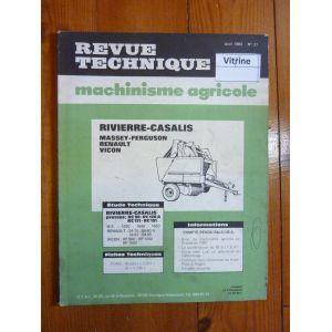 Serie RC- 54.xx-Serie RP Revue Technique Agricole Massey Ferguson
