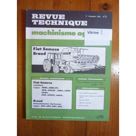 500 540 640 Revue Technique Agricole Fiat Someca