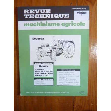 D75 D80 D90 D100 D10 Revue Technique Agricole Deutz