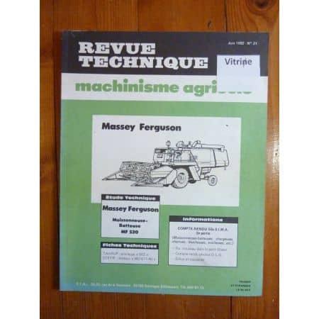 MF520 Revue Technique Agricole Massey Ferguson