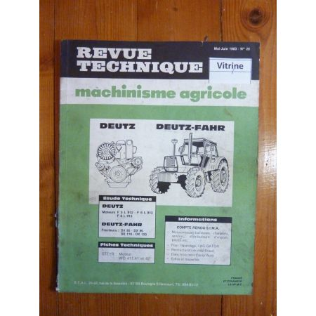DX85 à DX120 Revue Technique Agricole Deutz Fahr