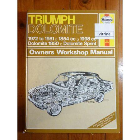 Dolomite Revue Technique Haynes Triumph