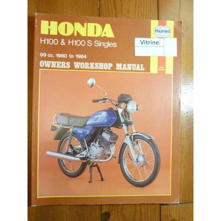 honda h100 h100s d de 1980 1984 revue technique en anglais rth00734. Black Bedroom Furniture Sets. Home Design Ideas