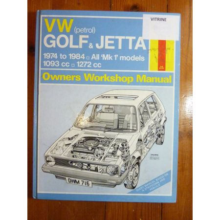 Golf 74-84 Revue Technique Haynes VWVOLKSWAGEN GOLF-JETTA