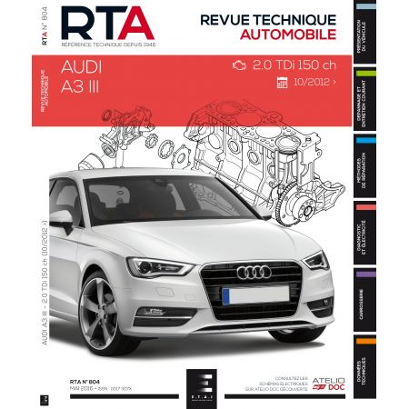 A3 Ph 3 dep 06/12 Revue Technique Audi