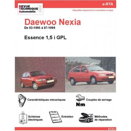 Nexia Ess 95-99 Revue e-RTA Numerique Daewoo