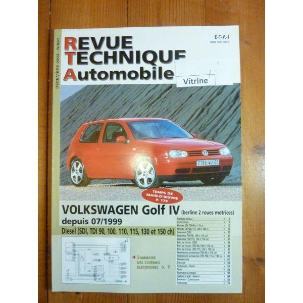 volkswagen vw golf iv diesel depuis 07 1999 sdi tdi 90 100 110 115 130 et 150cv. Black Bedroom Furniture Sets. Home Design Ideas