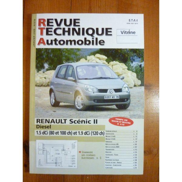 renault scenic ii diesel 1 5 dci 80cv et 100cv et dci 120cv. Black Bedroom Furniture Sets. Home Design Ideas