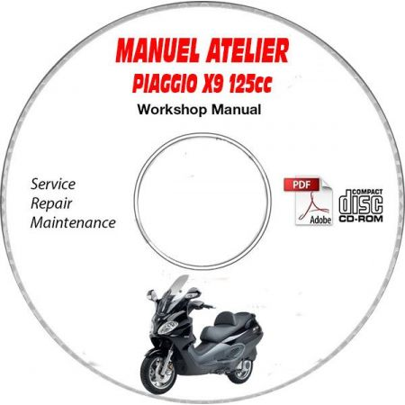 X9 EVO 125 Manuel Atelier CDROM PIAGGIO Revue technique