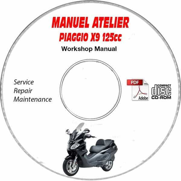 Revue Technique Piaggio X9 Evolution 125cc Type Zapm48100