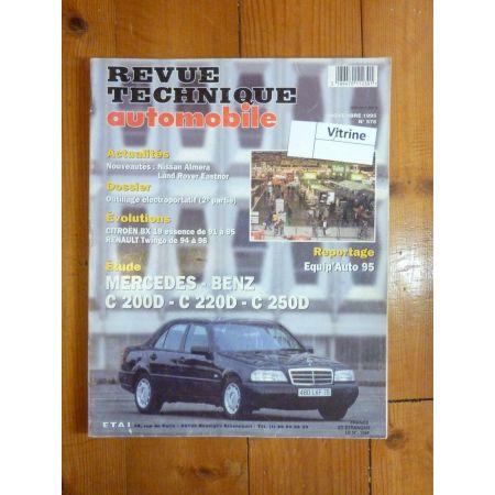 Classe C 200D 220D 250D Revue Technique Mercedes