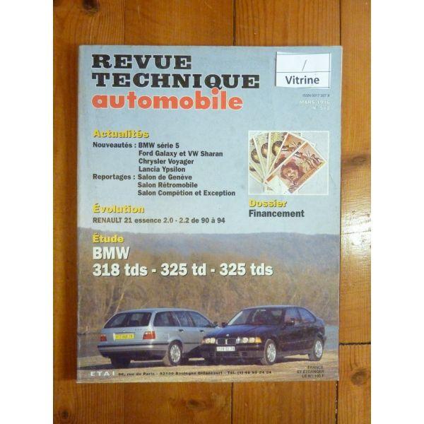 rta revues techniques bmw 318 tds 325 td 325 tds. Black Bedroom Furniture Sets. Home Design Ideas