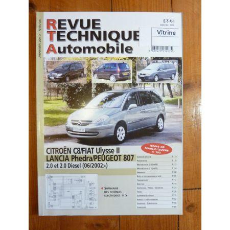 C8 Ulysse 2 Phedra 807 02- Revue Technique Citroen Fiat Lancia Peugeot