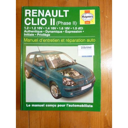 Clio II Ph 2 01- Revue Technique Haynes Renault