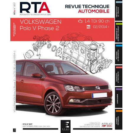 POLO V Ph.2:1.4 TDI 02/14- Revue Technique VW
