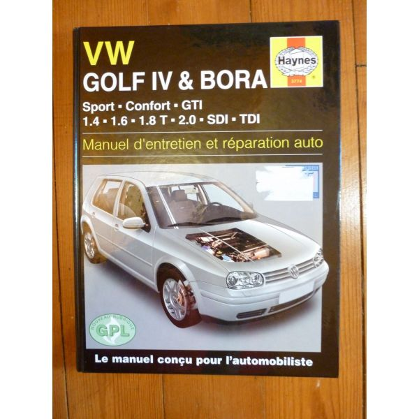 revue technique volkswagen vw golf iv et bora de 1998 a 2000 1 4 1 6 1 8t 2 0 sdi tdi. Black Bedroom Furniture Sets. Home Design Ideas