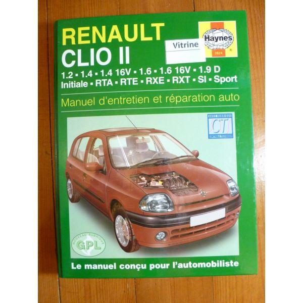 revue technique renault clio ii essence et diesel de 1998 a 2001 initiale rta rte rxe rxt. Black Bedroom Furniture Sets. Home Design Ideas