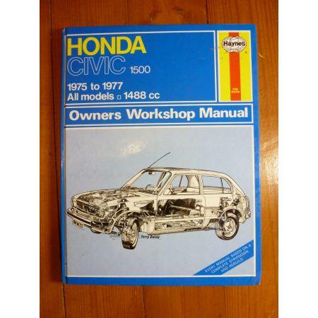 Civic 1500 75-77 Revue Technique Haynes HONDA Anglais