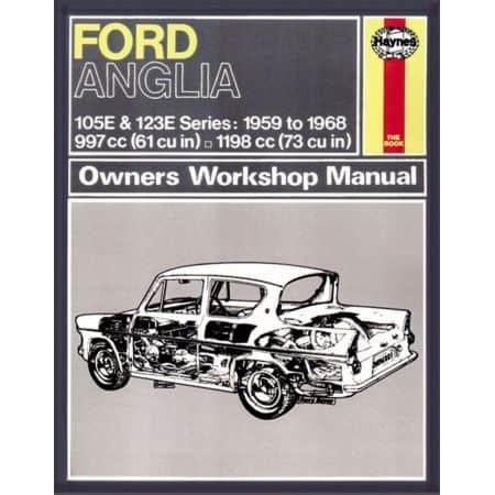 Anglia 59-68 classic reprint Revue technique Haynes FORD Anglais