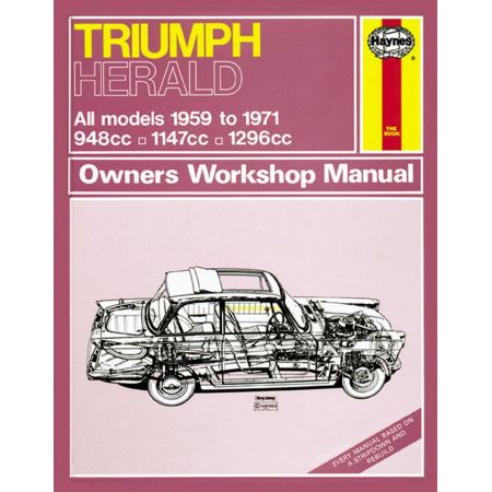 Herald up to K classic 59-71 Revue technique Haynes TRIUMPH Anglais