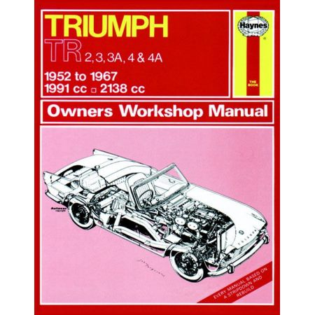 TR2 TR3 TR4 52-67 Revue technique Haynes TRIUMPH Anglais