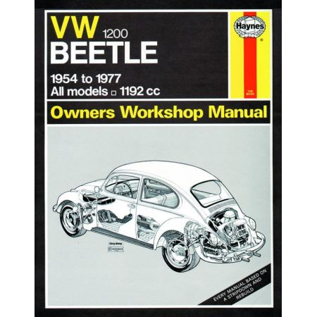 Beetle 1200 up to S 54-77 Revue technique Haynes VW Anglais