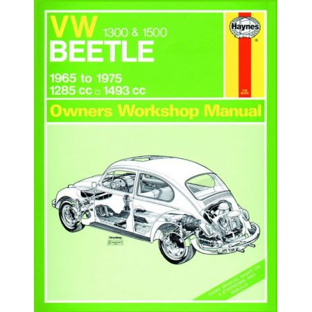Beetle 1300 1500 65-75 Revue technique VW Haynes Anglais
