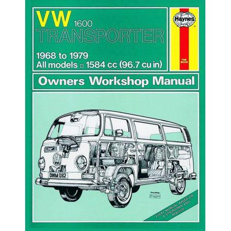 Transporter 1600 68-79 Revue technique Haynes VW Anglais