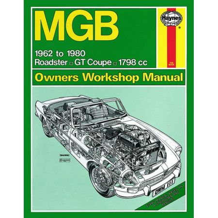 MGB up to W 62-80 Revue technique Haynes MG Anglais