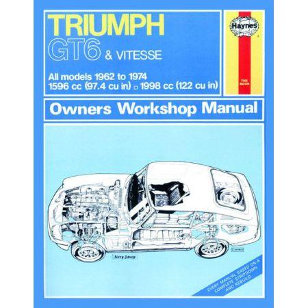GT6 Vitesse classic 62-74 Revue technique Haynes TRIUMPH Anglais