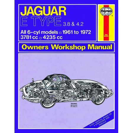 E Type up to L classic 61-72 Revue technique Haynes JAGUAR Anglais