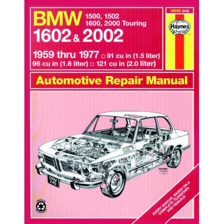 1500 1502 1600 160259-77 Revue technique Haynes BMW Anglais