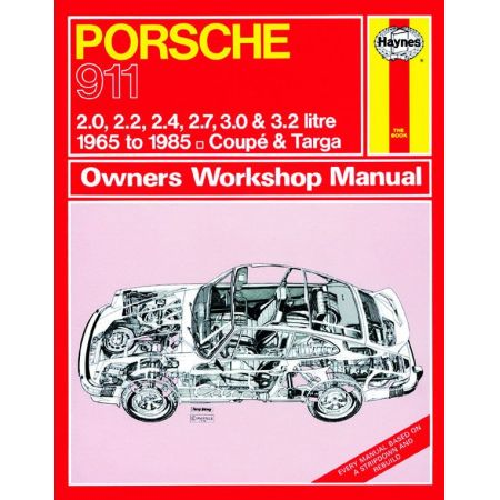 911 up to C 65-85 Revue technique Haynes PORSCHE Anglais