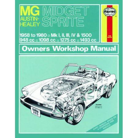 Midget Austin-Healey Sprite 58-80 Revue technique Haynes MG Anglais