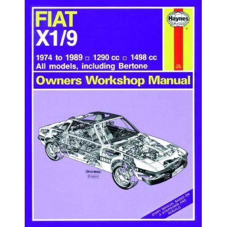 X1-9 classic 74-89 Revue technique Haynes FIAT Anglais